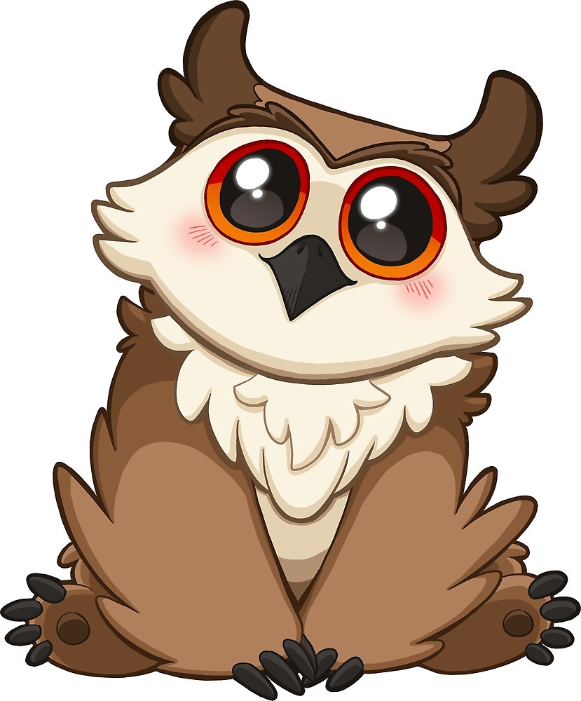 The most adorable owlbear you've ever seen.